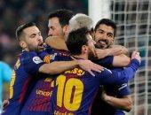 نجوم برشلونة يحتفلون بالخماسية أمام بيتيس