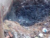 المجارى والقمامة فى شارع العروبة بالمنصورة