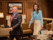 ملك الأردن وزوجته الملكة رانيا