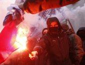 حرق العلم الروسى