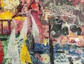 لوحة من معرض طريق الحرير