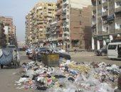 انتشار القمامة بشارع التلاتينى الشهير ببورسعيد