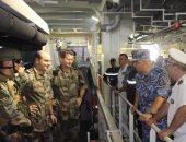 الفريق أحمد خالد قائد القوات البحرية المصرية والفريق أول كريستوف برازوك قائد القوات البحرية الفرنسية