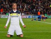 فرحة توريس بهدفه القاتل أمام برشلونة