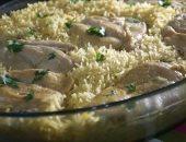طريقة عمل الرز بسمتى بالكريمة مع صدور الدجاج