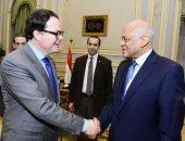 الدكتور على عبد العال رئيس مجلس النواب وسفير فرنسا