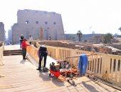 انشاءات ممر معبد الكرنك