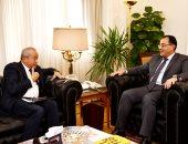 جانب من لقاء وزير الإسكان مع رجل الأعمال نجيب ساويرس