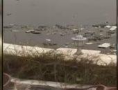 تلوث مياه النيل امام النادى الدبلوماسى النهرى بالجيزة