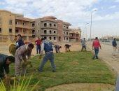 جانب من أعمال الزراعة بمدينة الشروق