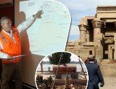مشروع خفض المياة الجوفية بمعبد كوم امبو