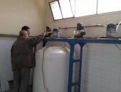 صيانة محطات شرب غرب النفق بالسويس