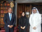 وزير الرياضة مع وزراء البحرين والإمارات