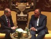 وزير الخارجية سامح شكرى يلتقى نظيره الأردنى