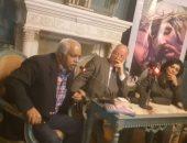 حمدى رزق خلال اللقاء الذى نظمه المعهد السويدى بالإسكندرية