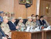 الرئيس السيسي خلال افتتاح مقر قيادة قوات شرق القناة لمكافحة الإرهاب