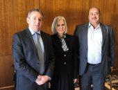 السفيرة هيفاء أبو غزالة والسفير طارق عادل