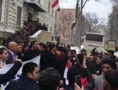 الناخبون أمام السفارة المصرية بأوكرانيا