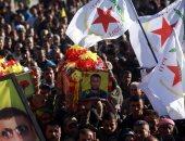 تشييع جثمان مقاتلى وحدات حماية الشعب الكردية