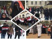 احتشاد المصريين فى أمريكا للتصويت بالانتخابات