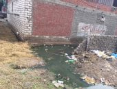 كارثة بيئية تحاصر قريتين بالمحلة بسبب مصرف
