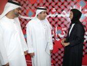 رئيس جمعية الفجيرة الثقافية يلتقى وزيرة ثقافة الإمارات فى معرض الرياض