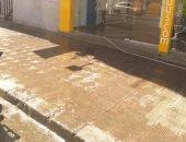 إهدار المياه برش الشوارع بمصر الجديدة