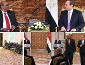 الرئيس عبد الفتاح السيسى و الرئيس السودانى عمر البشير