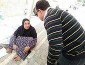 التدخل السريع بالتضامن ينقذ مسنه  من أمام مسجد الإمام الحسين