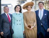 ملك الأردن وملك هولندا وزوجتيهما