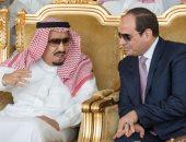 الرئيس السيسى مع الملك سليمان
