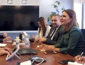 سحر نصر وزيرة الاستثمار والتعاون الدولى خلال الاجتماع