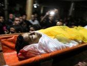 تشييع جثمان الشهيد الفلسطينى