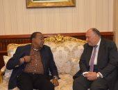 وزير الخارجية يلتقى الرئيس الكينى