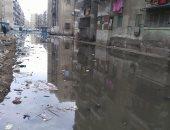 القمامة ومياه الصرف الصحى بمساكن الزهراء