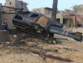 اثناء تصوير مشهد تفجير طائرة مروحية بمسلسل كلبش2