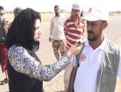 فضل أحمد قائد فريق نزع الألغام مع محررة اليوم السابع