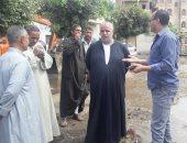 غرق قرية البندرة بالمجاري بعد كسر ماسورة صرف صحى