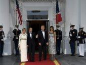 ترامب وميلانيا وماكرون وزوجته