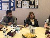 شرين الشوربجي الرئيس التنفيذي لهيئة تنمية الصادرات خلال اجتماعها مع ممثلى مصر الخير