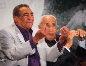 عبد الرحمن الأبنودى ومحمد حسنين هيكل
