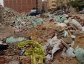 تراكم القمامة ومخلفات البناء