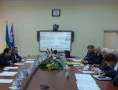 وزير قطاع الأعمال العام خلال أحد اللقاءات بأوكرانيا