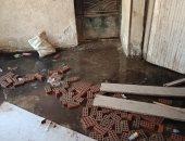 الصرف الصحى يغرق مكتب تموين فى الهرم