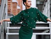 فستان أخضر
