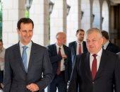 بشار الأسد ومبعوث بوتين