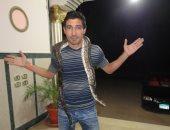 محمد بركات مع الثعبان