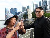 شبيه زعيم كوريا الشمالية فى سنغافورة