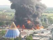 حريق مدينة ملاهى فى ألمانيا