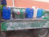 عربية محملة بجراكن المياه